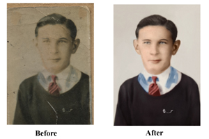 Faded Photo Restored Pittsburgh
