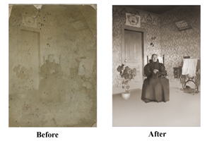 Mold Damaged Photo Restoration